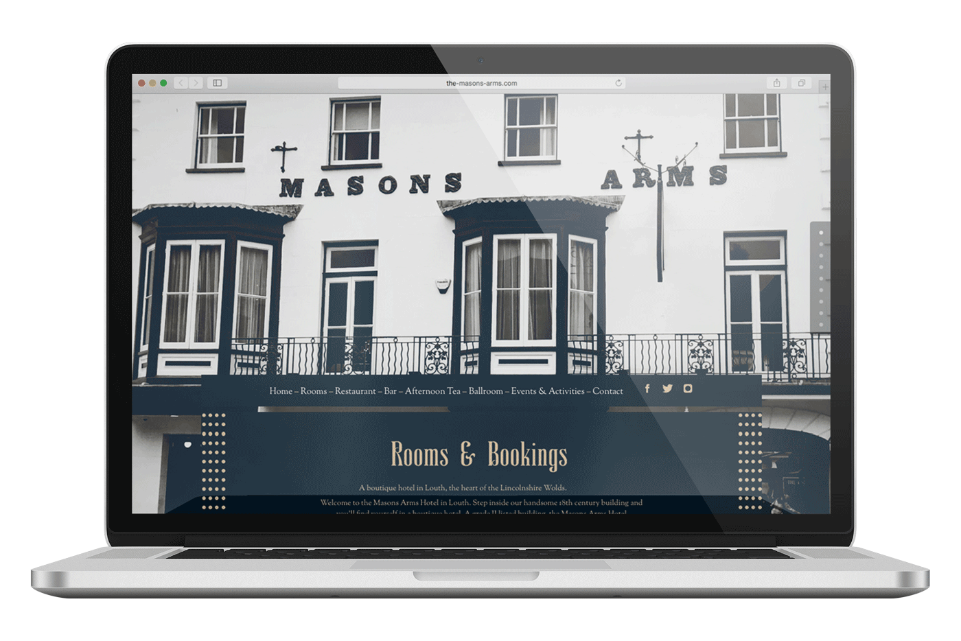 The Masons Arms website